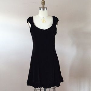 Black Velvet Dress with Bow detail
